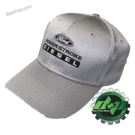 00f61998b Ford Powerstroke Silver Summer mesh Back Ball Cap hat Headwear f250 Diesel  Gear