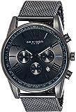 Father's Day Gift - Akribos XXIV Swiss Chronograph Quartz Watch - Round Radiant Sunburst Dial - Stainless Steel Mesh…