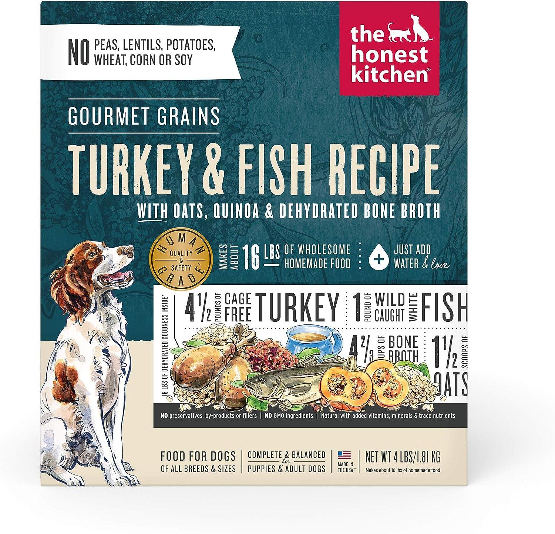 The Honest Kitchen The Honest Kitchen Gourmet Grains Turkey & White Fish Recipe Dehydrated Dog Food, 4 lb box