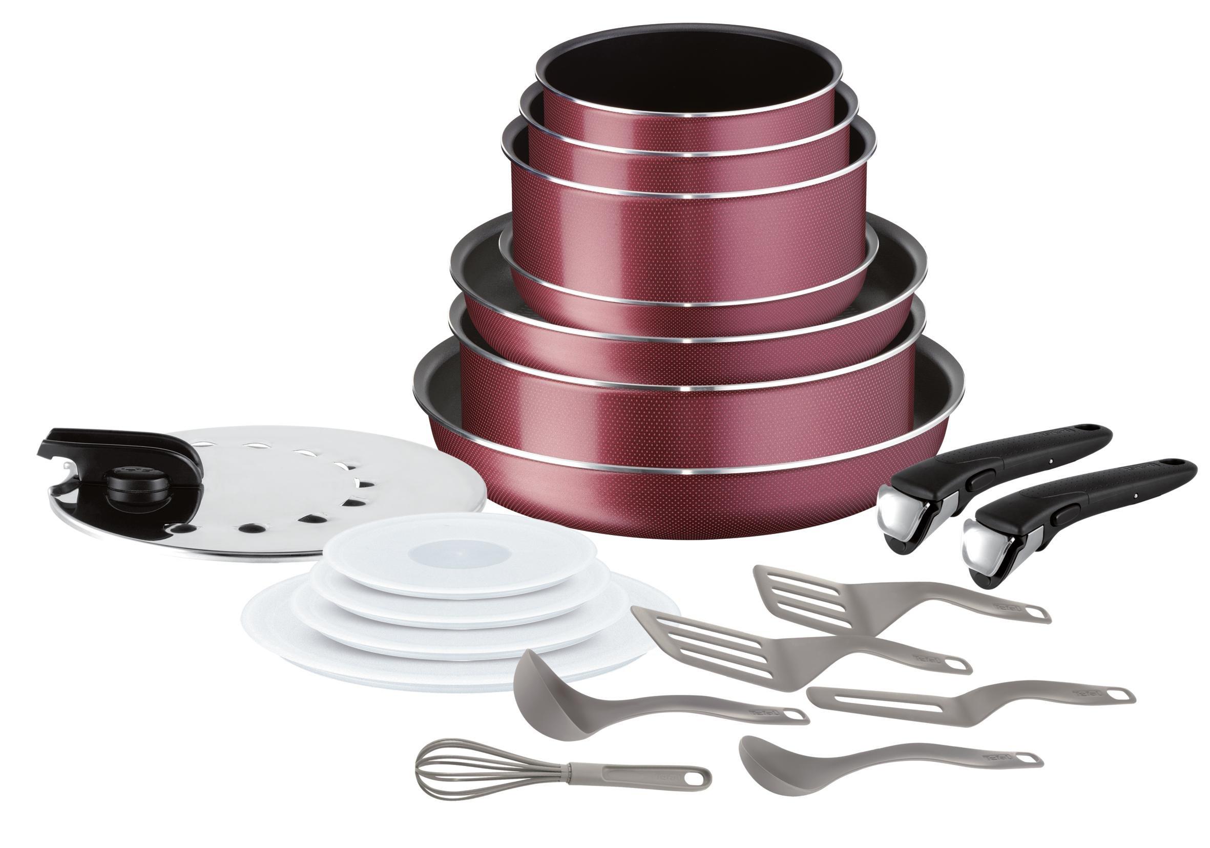 Ingenio Essential Set De 20 Pièces Tramé Rouge Tous Feux Sauf Induction product image
