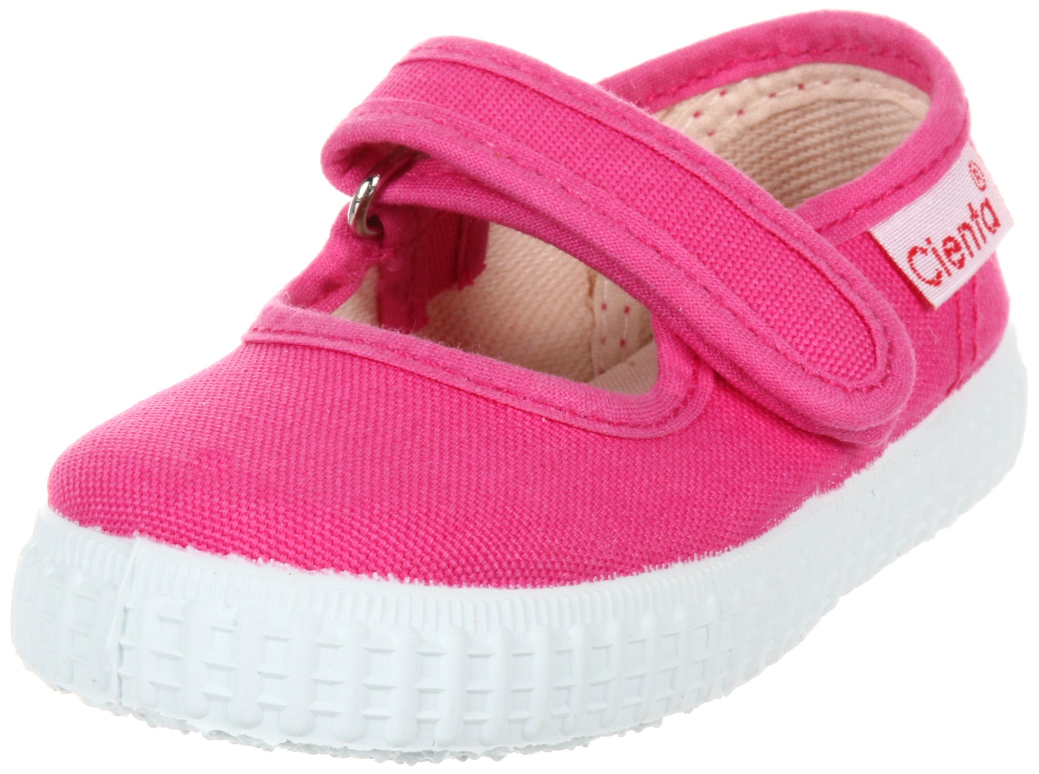 Cienta Mary Jane Sneakers for Girls – Fuchsia Casual Shoes with Adjustable Strap, 22 EU (6 M US Toddler)