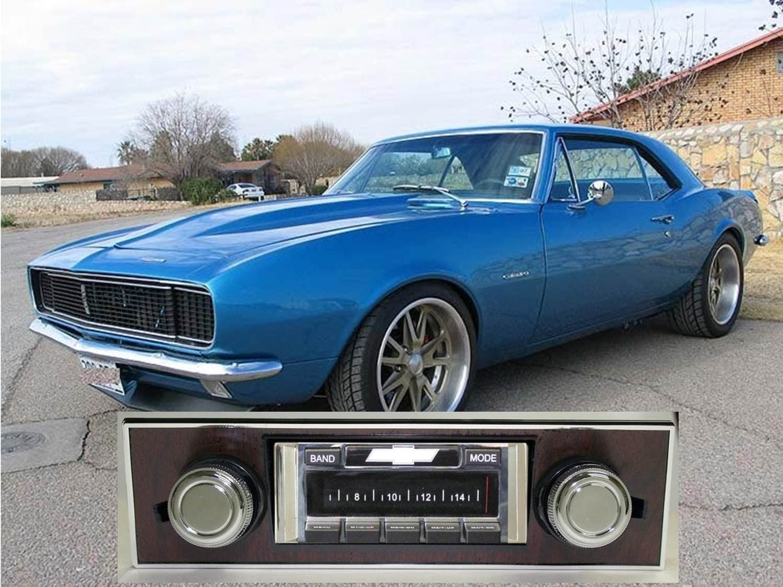 Custom Autosound AM FM 300 watt Stereo for 1967-1968 Camaro WOOD dash iPod USB