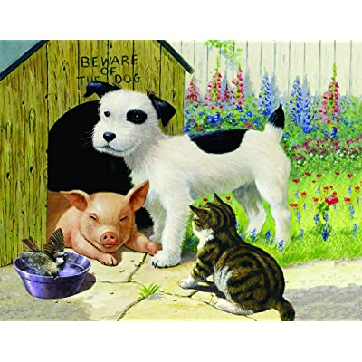 Unlikely Friends 35 Piece Jigsaw Puzzle by SunsOut: Toys & Games