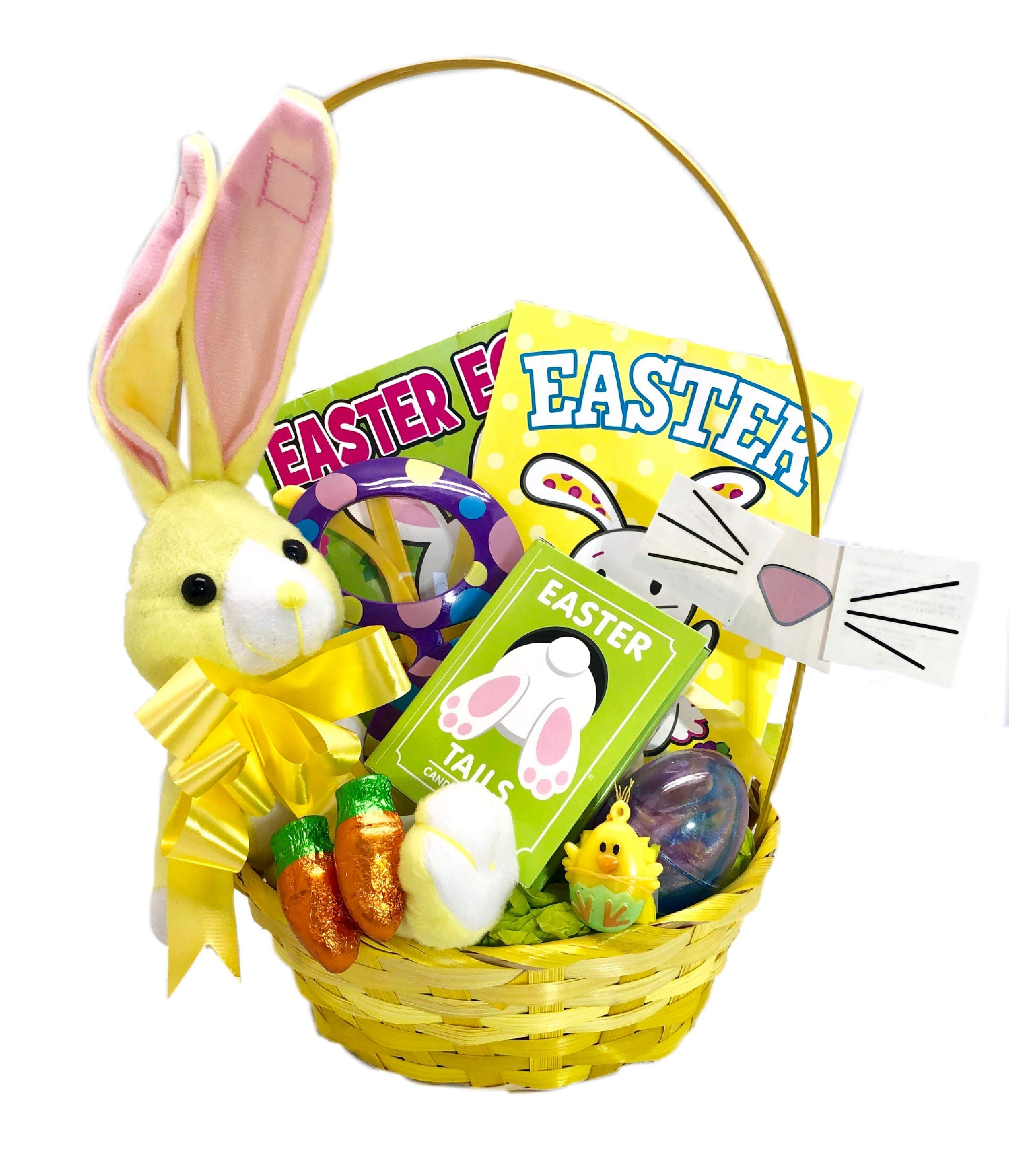 J Bar Easter Baskets for Kids Filled with Easter Basket Stuffers - Easter Baskets for Girls - Easter Baskets for Boys - Quality Candy