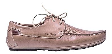 Vogar Hombre Mocasines Cuero Zapatos Verano VG4924 Beige EU 41
