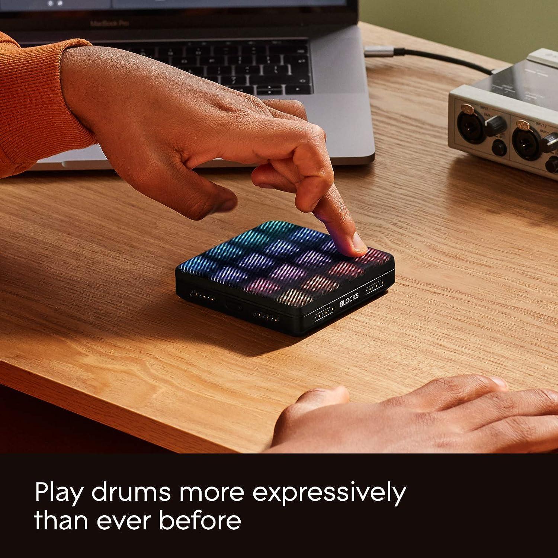 Un drumpad surpuissant ROLI Lightpad Block M Studio Edition
