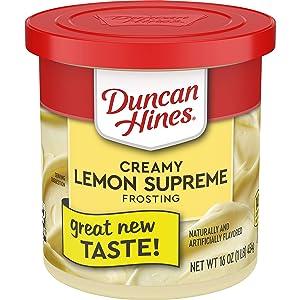 Duncan Hines Creamy Homestyle Lemon Supreme Frosting, 16 Oz