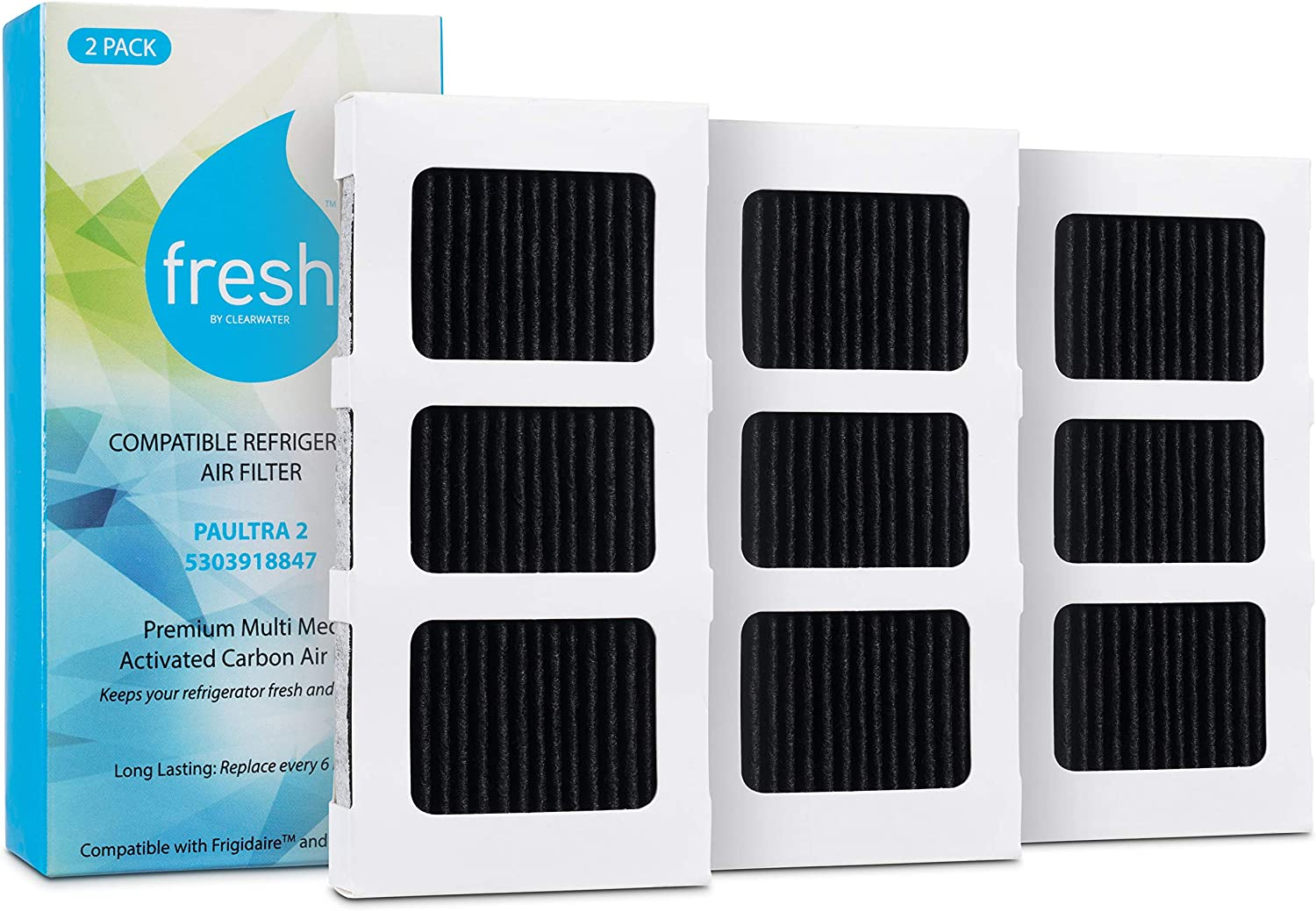 Fresh Replacement Air Filter for Frigidaire Paultra2 Paultra 2, Electrolux 242047805, EAP12364179, 3 Pack