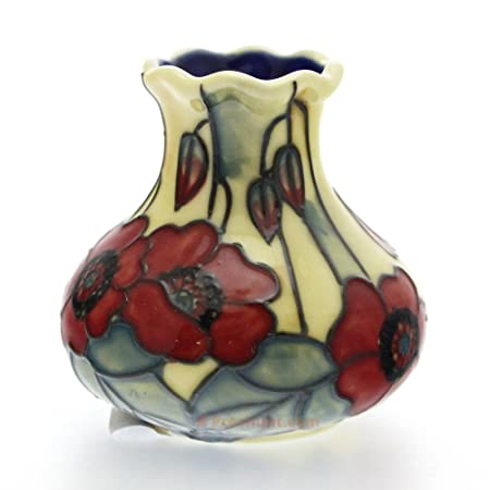 Old Tupton Ware Vase Yellow Poppy Design Boxed Gift Tw1676 By