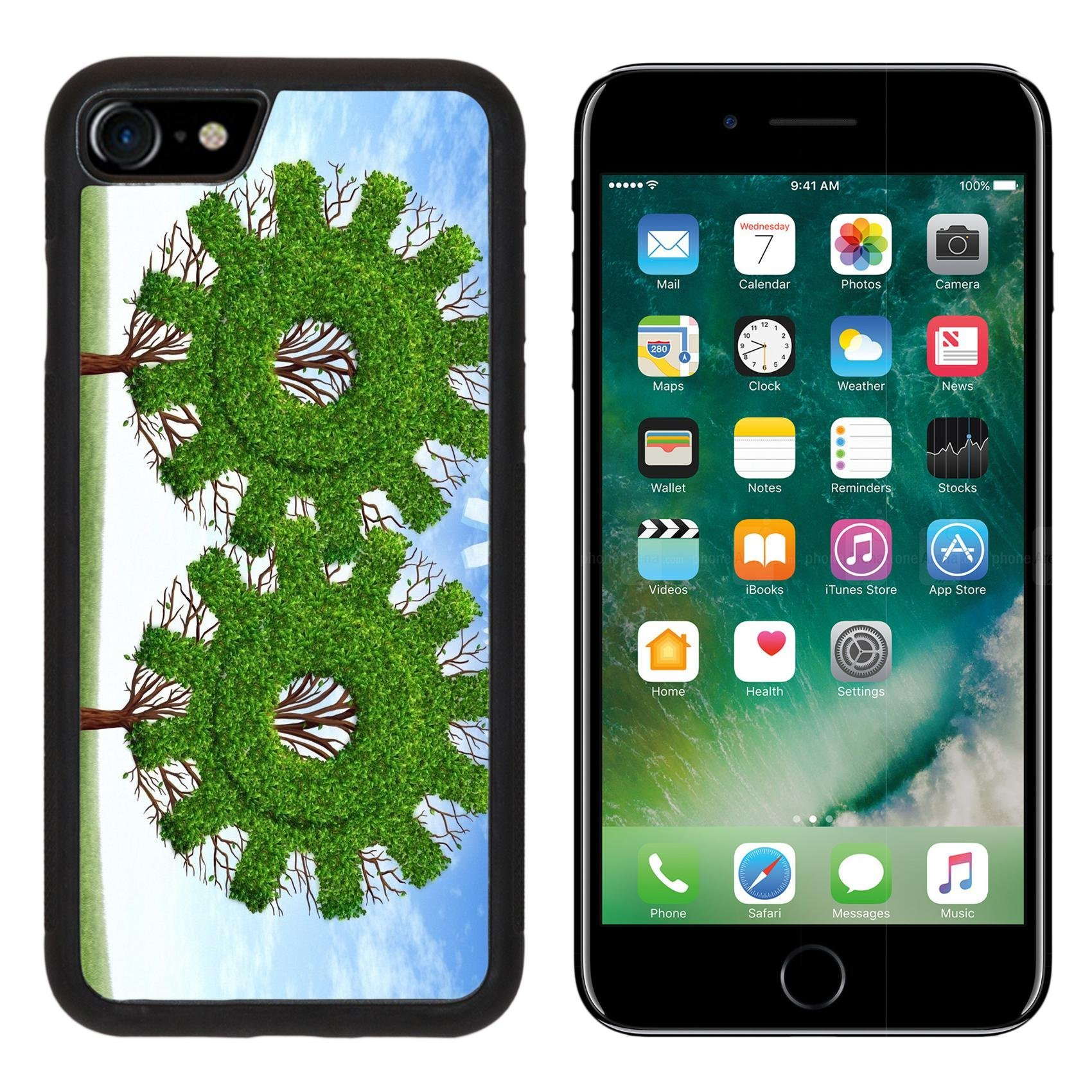 Liili iPhone 7 Case and iPhone 8 Case Silicone Bumper Shockproof Anti-Scratch Resistant Tempered Glass Hard Cover Cloud computing growth and the future of virtual storage and internet based remote de by Liili