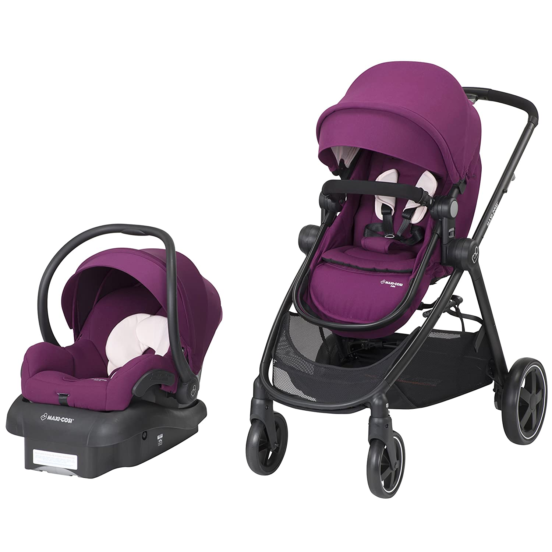 Maxi-Cosi Zelia 5-in-1 Modular Travel System Stroller and Mico 30 Infant Car Seat Set (Night Black) Dorel Juvenile Group-CA TR389EMJ