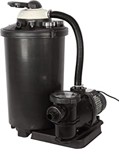 FlowXtreme 16-in, 100lb Sand Filter System for Above Ground Pools with Multiport Valve, 1 HP, 5,400 GPH, 50-ft Max Head