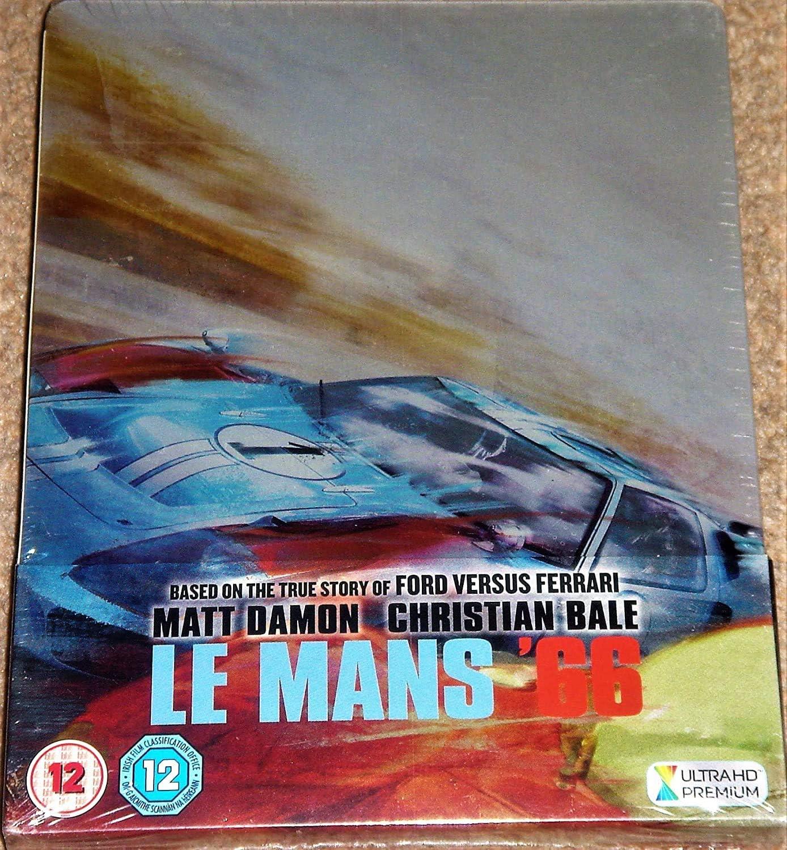 Le Mans 66 Ford Versus Ferrari 4k Ultra Hd Limited Edition Steelbook Includes Region Free Blu Ray Amazon Co Uk Dvd Blu Ray