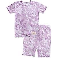 VAENAIT BABY Bamboo Cool Fabric 12M-8Y Toddler Kids Girls Boys Tie Dye Soft Short Pjs Summer Pajamas 2pcs Set, A05…