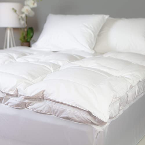 #2- allied essentials luxe 100% cotton white down and goose featherbed
