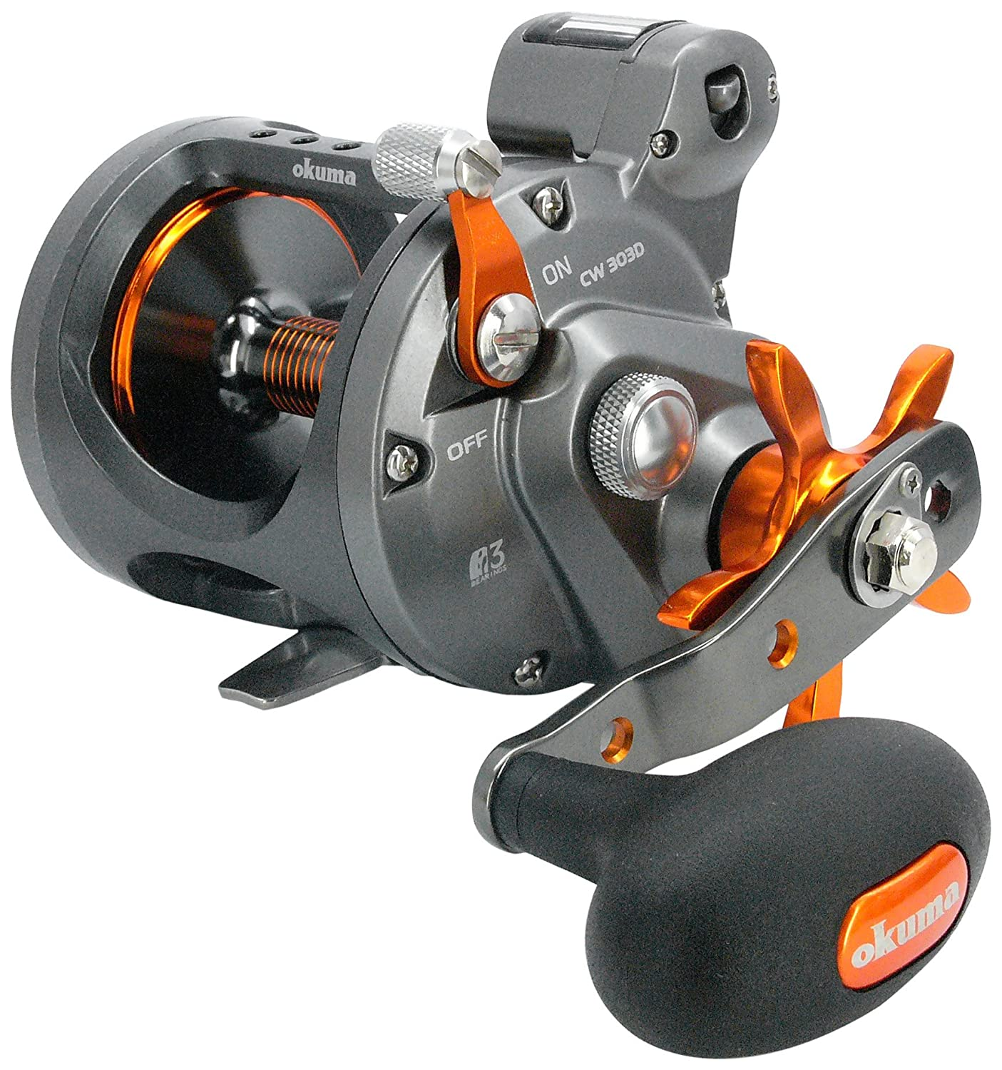 Okuma Cold Water Linecounter Trolling Reel Cw-453d (Right Hand), 330 Yds-25lb  B008GQ6X4M