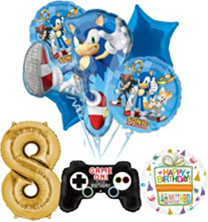 7 Party Favor one Size Amscan Sega Sonic The Hedgehog Square Plates Multicolor