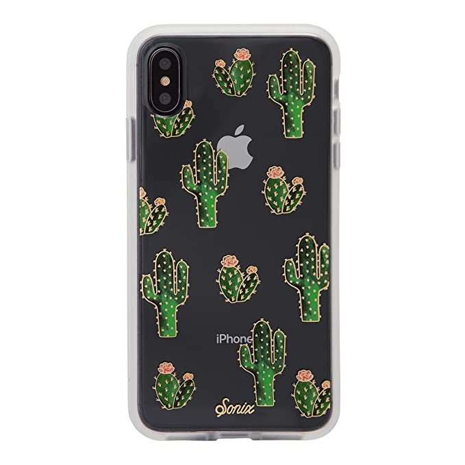 promo code 48a99 7838e iPhone Xs Max Case, Sonix Prickly Pear (Cactus) [Military Drop Test  Certified] Protective Clear Case for iPhone Xs Max