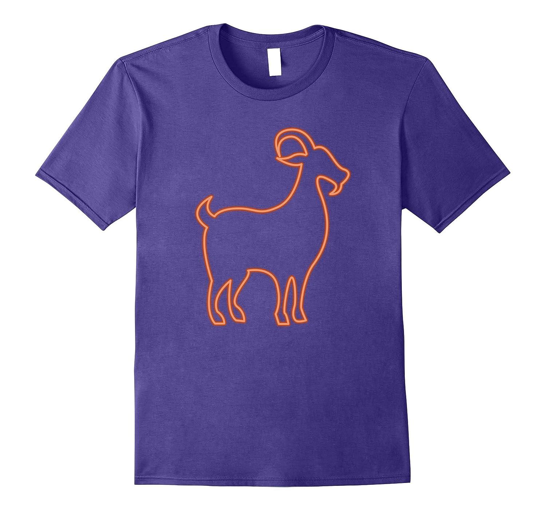 80s Retro Neon Sign Goat T-Shirt. 80's Gift-FL
