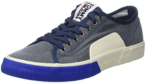 Hilfiger Denim Tj Urban Textile Sneaker, Zapatillas para Hombre, Azul (Ink 006), 42 EU