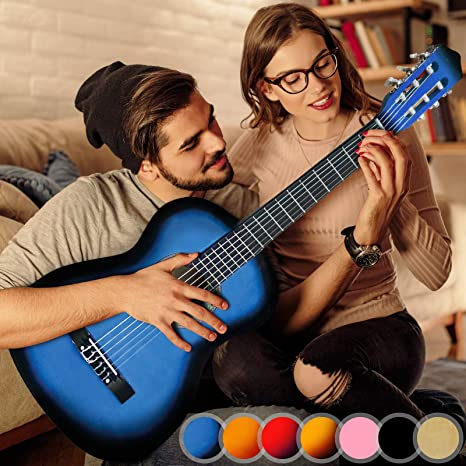 Preiswerte Gitarren Tasche Klassikgitarre Akustikgitarre blau 4//4 Größe Rucksack