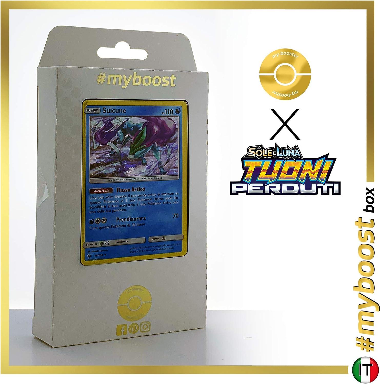 Suicune 59//214 Holo #myboost X Sole E Luna 8 Tuoni Perduti Box di 10 Carte Pok/émon Italiane