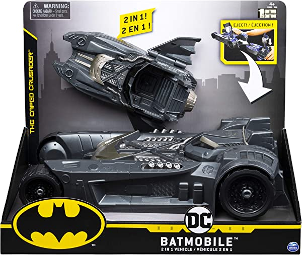Batmobile 2-in-1 Vehicle toy for kids in package
