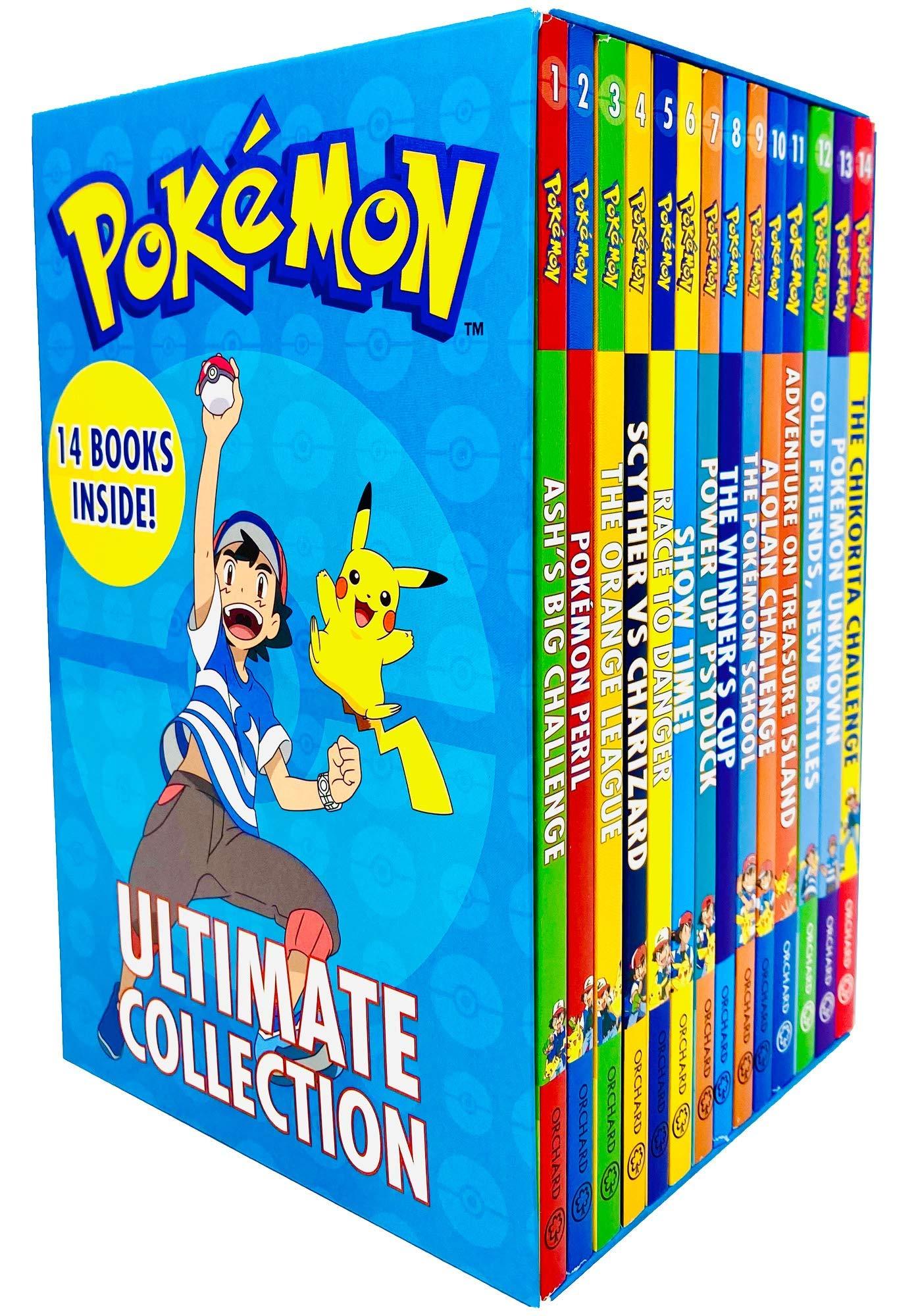 Pokemon Ultimate Collection Series Books 1-14 Set (Ash's Big Challenge, Pokemon Peril, Orange League, Scyther VS Charizard, Race to Danger and MORE!)