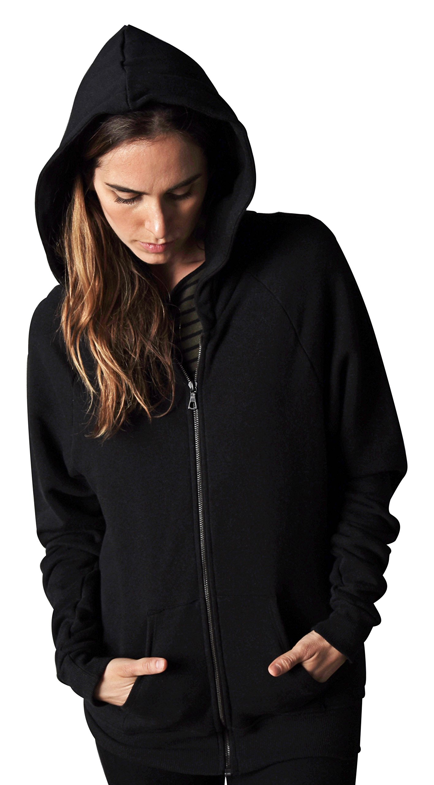 Aros Standard Zip Up Relaxed Fit, Black, Small