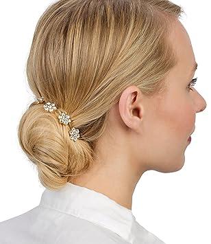 Six Hochzeit Haarschmuck Goldene Haar Nadeln Hair Pins Mit Strass