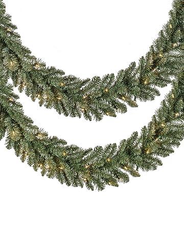 5f9cc9793eb3 Balsam Hill Set of 2 Classic Blue Spruce Prelit Artificial Christmas  Garlands