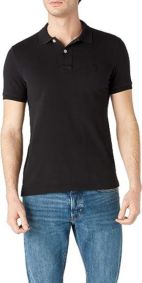 BENETTON MADALO Tops y Camisetas Hommes Negro - S - Polos Manga ...