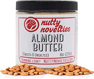 product image for Nutty Novelties Classic Almond Butter - High Protein, Sweet Almond Butter - No Added Sugar - All-Natural, Pure Almond Butter Free of Cholesterol & Preservatives - Vegan Almond Butter - 8 Ounces