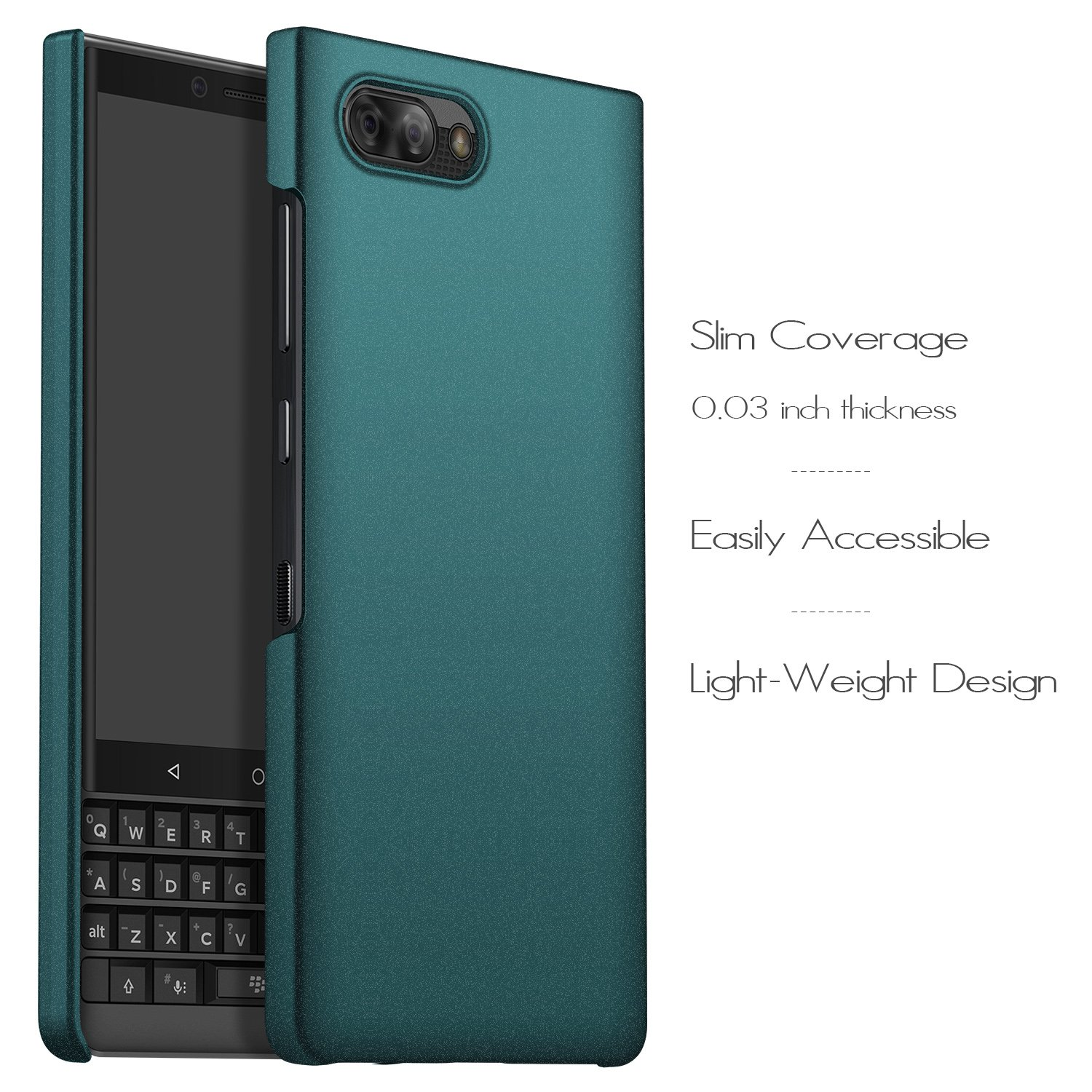 Ultra-Thin - Gravel Black Anccer BlackBerry Key2 Case Premium Material Slim Full Protection Cover for BlackBerry Key2 Colorful Series Not fit for Keyone Anti-Drop