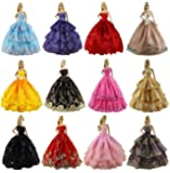 ZITA ELEMENT Lot 6 PCS Fashion Handmade Clothes Dress for Barbie Doll XMAS GIFT