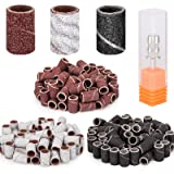 Belle 300pcs Sanding Bands for Professional Nail Manicure Drill with 3 colors Brown 80 Black 120 White 180 Grits Each 100pcs