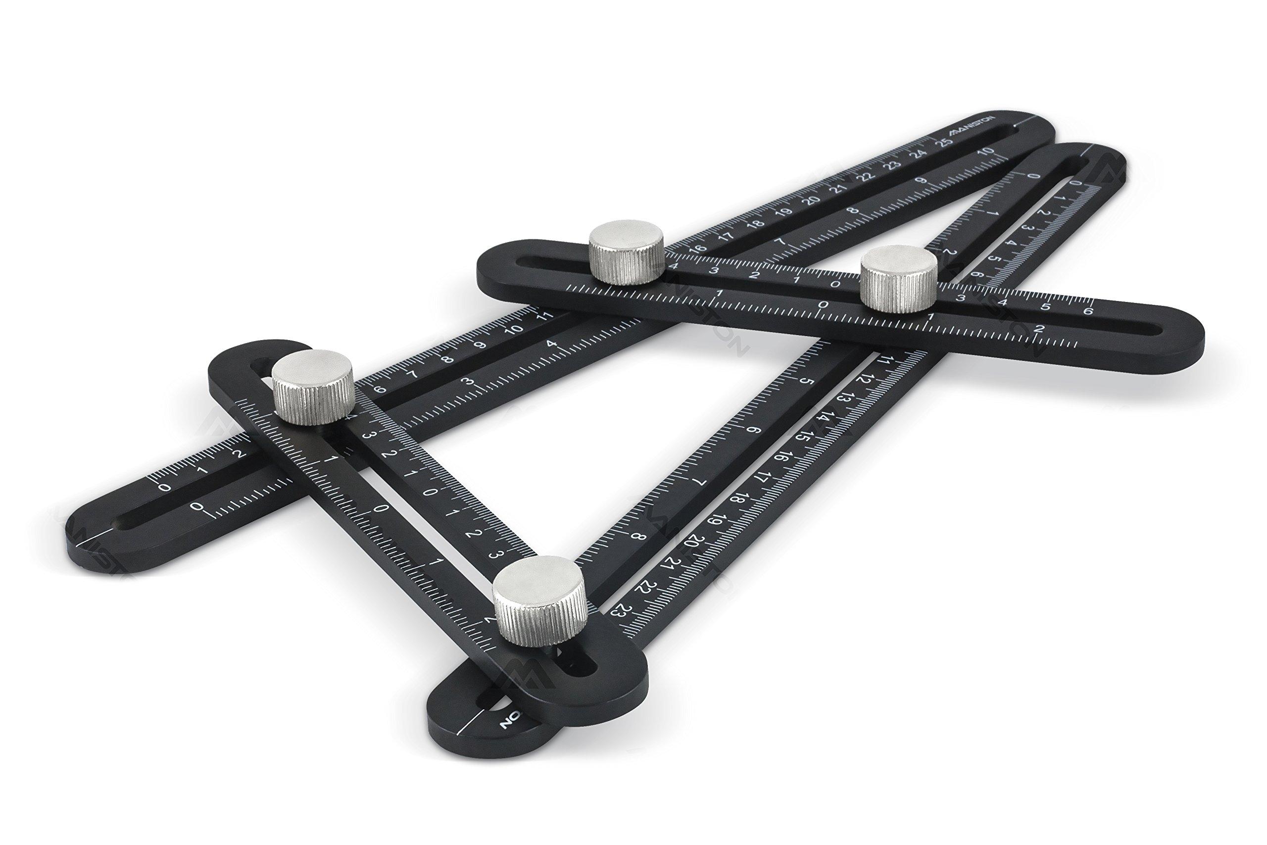 Premium Full Metal Angleizer Template Tool | Strong Aluminum Alloy Multi Angle Measuring Ruler | Precise Multi Angle Finder Template Tool Perfect for Builders, Woodworkers, Carpenters, DIYers & Tilers