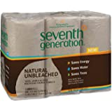 """Seventh Generation 13737 Natural Unbleached 100% Recycled Paper Towel Rolls, 11"""" x 9"""", Brown (Case of 24)"""