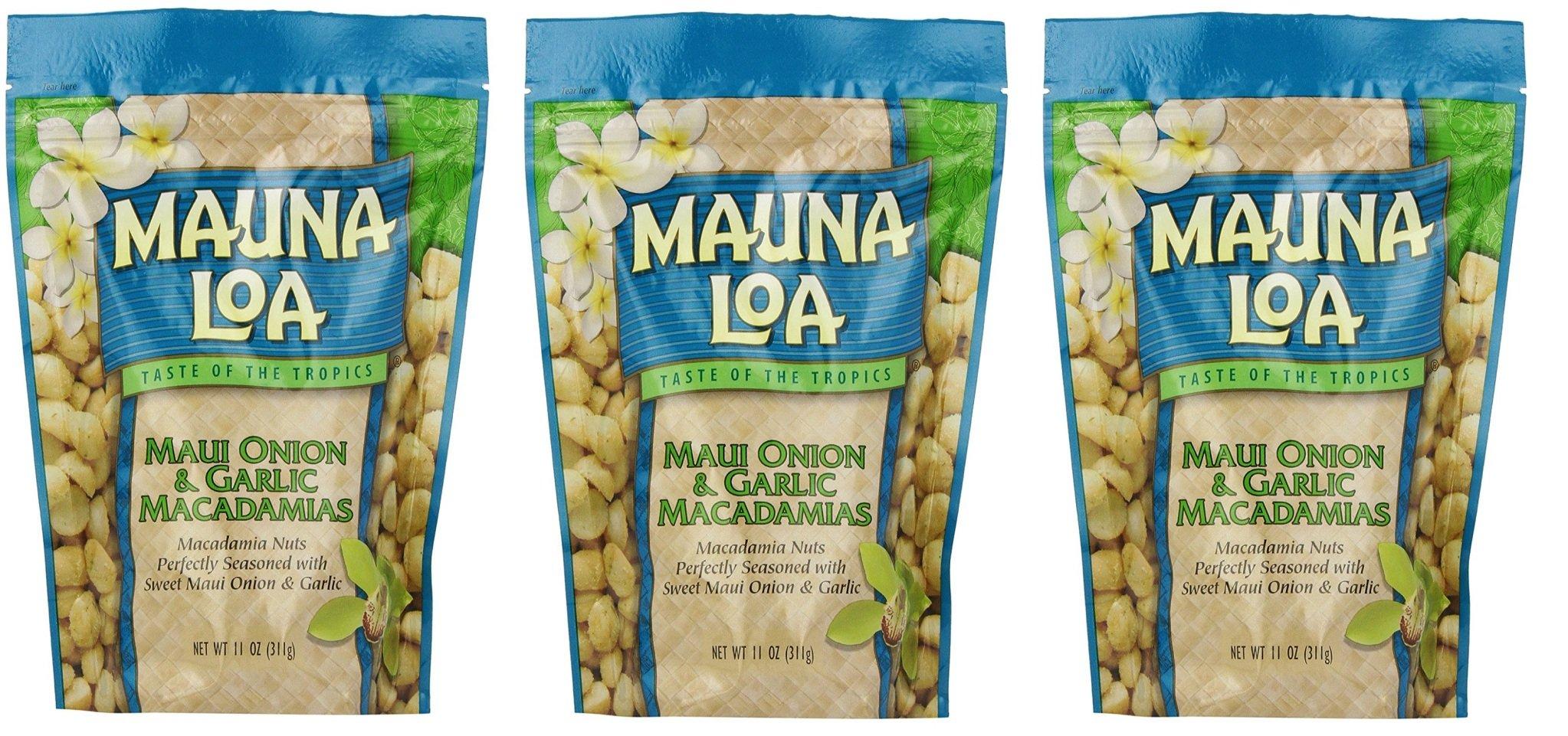Mauna Loa Macadamias, VycdTT 3 Pack (Maui Onion and Garlic)