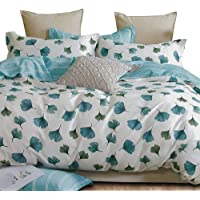 Essina Cotton Double Bed Quilt Cover Duvet Cover Doona Cover Set 3pc Valencia Collection 620 Thread Count, Pillow Sham…
