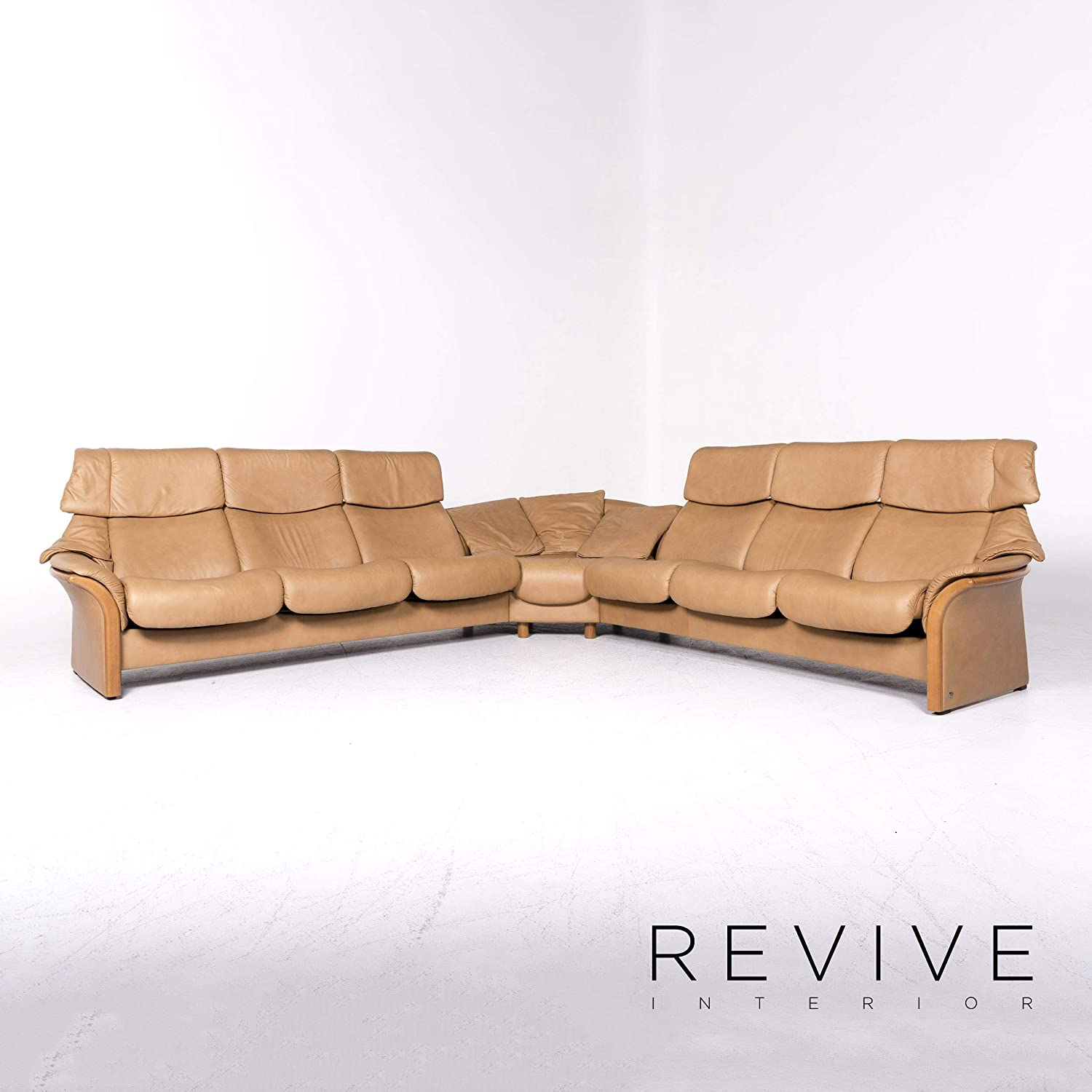 Stressless Eldorado Designer Leather Corner Sofa Beige Real ...