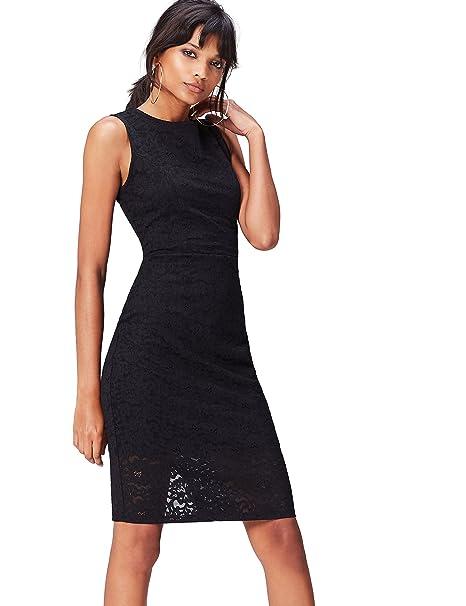 FIND 70231A Vestido Fiesta Mujer, Negro (Black), 36 (Talla del Fabricante