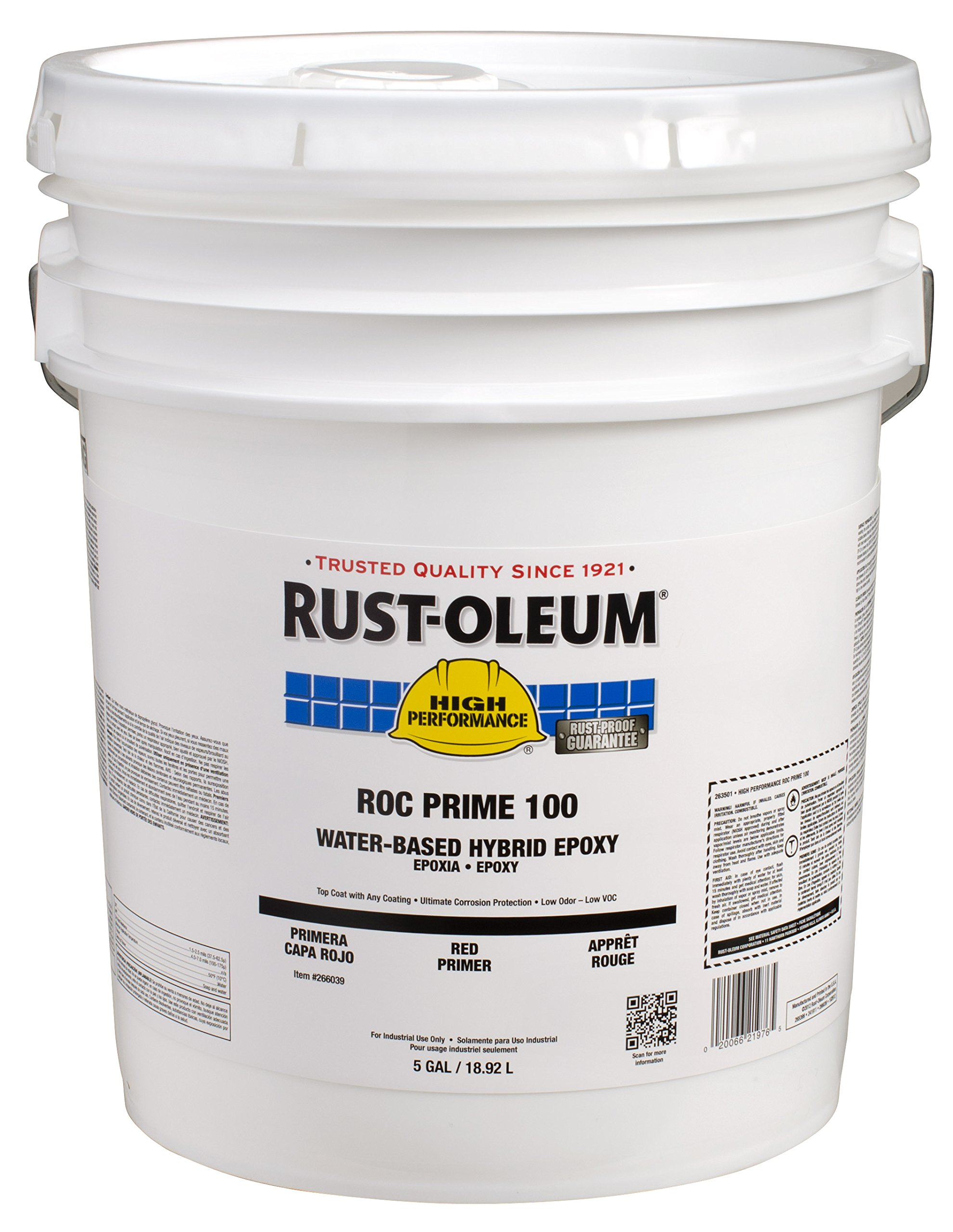 Rust-Oleum 266039 Primer High Performance ROC-Prime 100 Hybrid Epoxy Primer, 5-Gallon, Red
