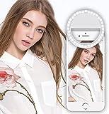 36 LED Selfie Ring Light,Pomisty 3-Level Brightness Mini Selfie LED Light Clip On Phones light for Smartphone