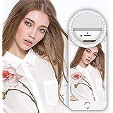 Think Case Selfie Anillo de luz, 36LED Selfie Cámara Foto Vídeo de luz lámpara, Teléfono móvil Flash Luz Selfie Ring Light para iPhone, Samsung, Huawei, nuxes, Smartphone, Tableta, portátil, de color blanco