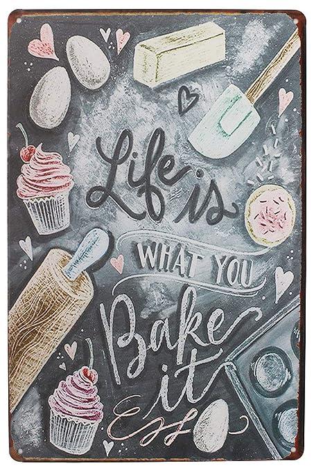 JUNGK Like Bake -Cartel Chapa Placa Metal Pintura De Hierro ...