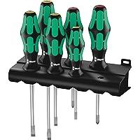 Wera 334/6 Rack Schraubendrehersatz Kraftform Plus Lasertip + Rack, 6-teilig, 05105650001