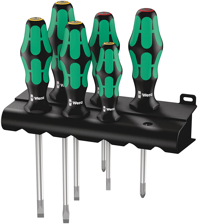 334/6 Rack Assortimento di giraviti Kraftform Plus Lasertip + rack, 6 pezzi Wera 05105650001