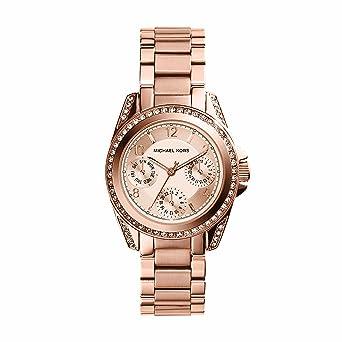 87d8977971cf Amazon.com  Michael Kors Women s Blair Rose Gold-Tone Watch MK5613 ...