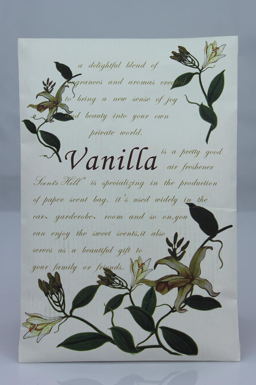 Scents Hill Wardrobe Scented Sachets for Closet, Lot of 8 (Vanilla)